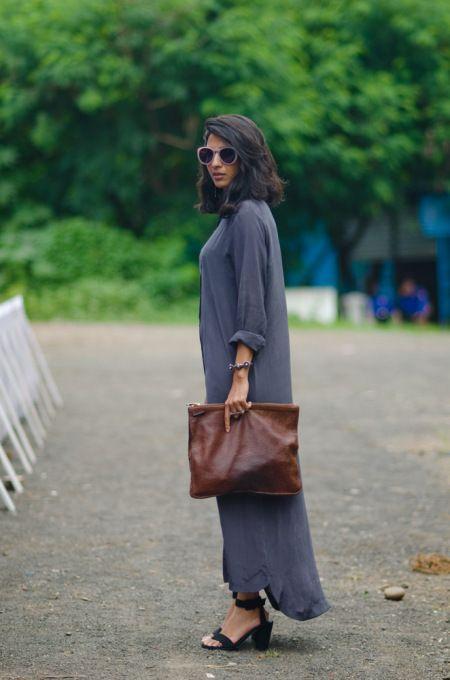 Meghna Bhalla, freelance fashion stylist. Wearing Nishka Lulla.
