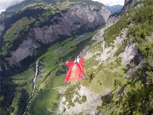 i and my love flying together in Switzerland <3 you can see the little shadow on the trees :) GoPro, #gopro, Wicked Wingsuits