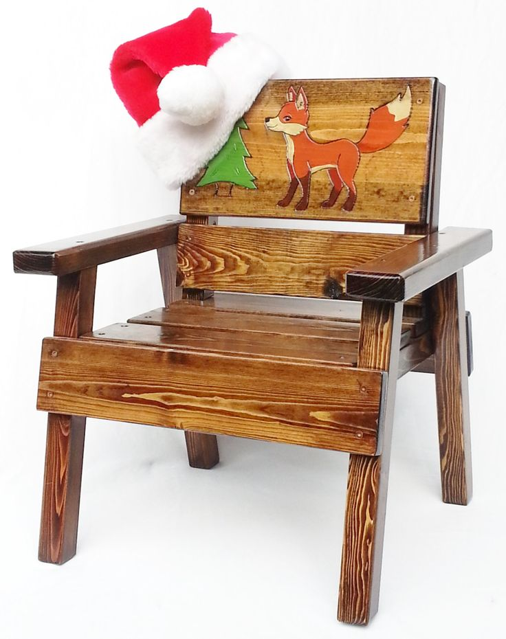 ON SALE Childrens Country Wood Folk Art Chair, Kids Indoor/Outdoor Patio  Furniture,
