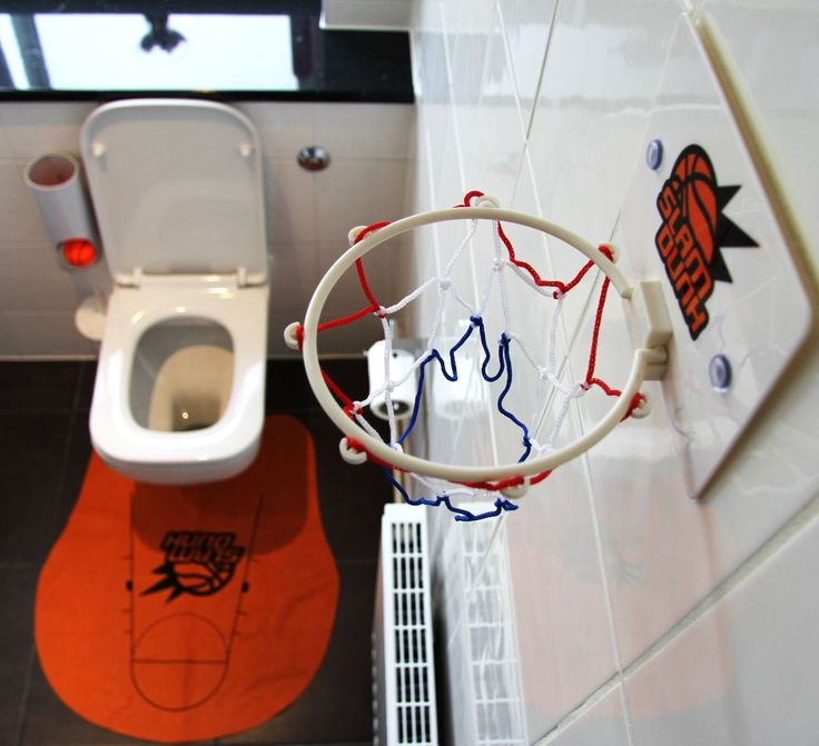 The Toilet Basketball set comes with a net, a toilet mat, three balls and a ball holder and is a great gift for anyone who enjoys their time on the loo.