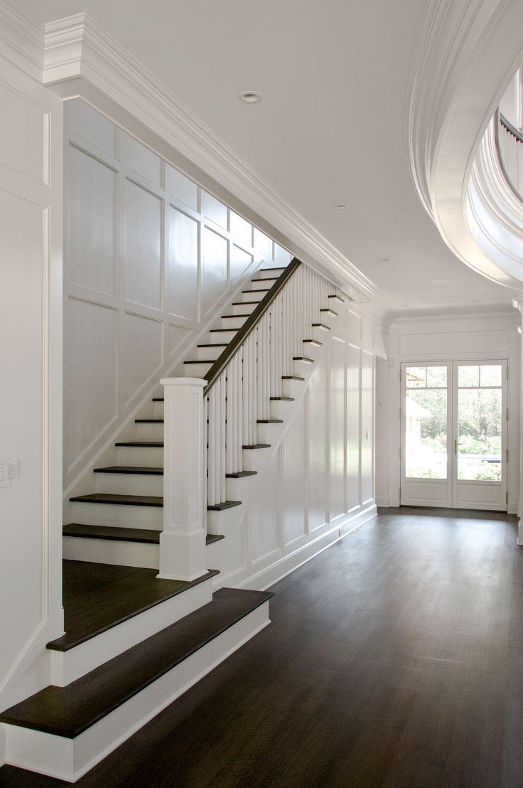 [East Hampton house by Carmina Roth Interiors] Simple Stair hand rail