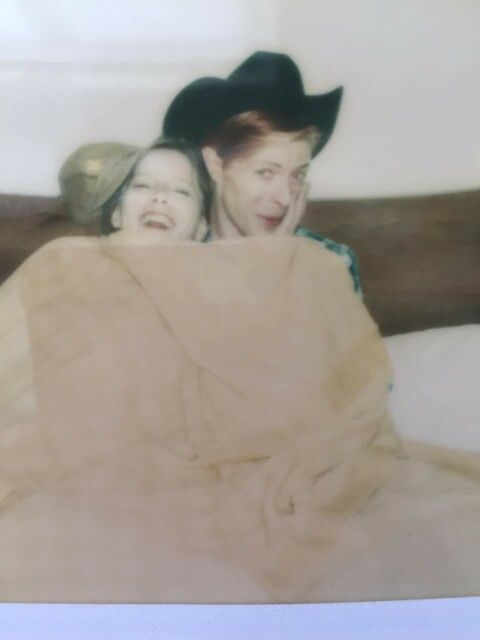 Candy Clark and David Bowie - Polaroid!