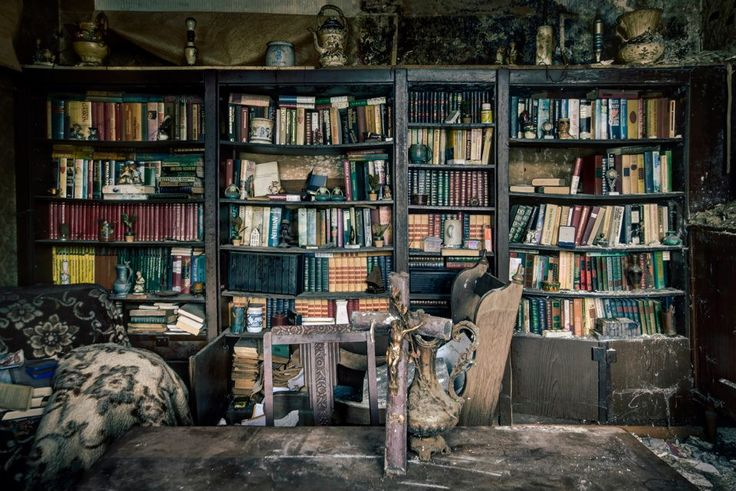 The Library  An abandoned house in Belgium