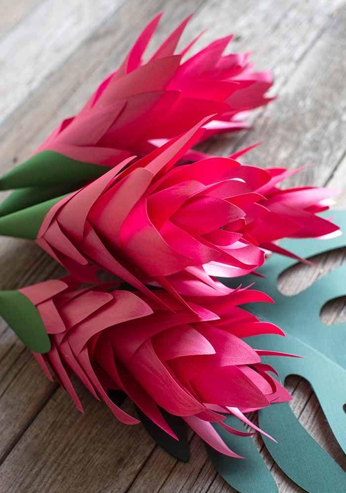 Flores De Papel 60 Ideias Fotos E Como Fazer Passo A Passo