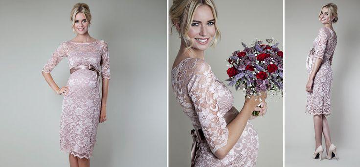 Amelia Kleid rose aus der Kategorie Festliche Umstandsmode von Mamarella - Details