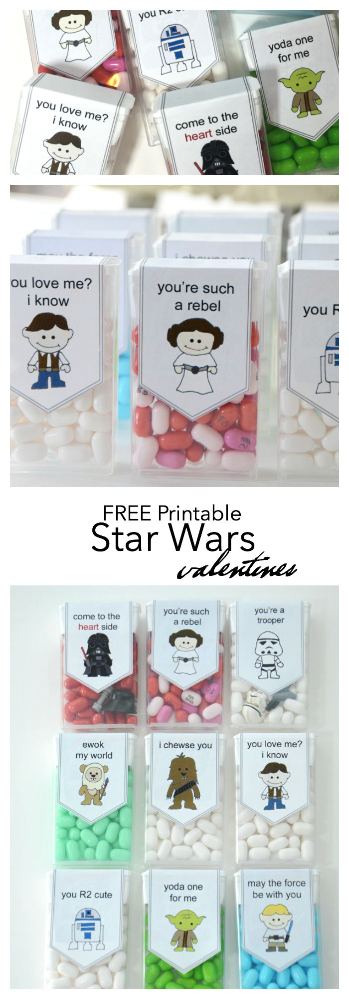 Disney Crafts Project | Free Printable Star Wars Valentine's for the kids classroom or your friends and family.  Perfect for your Star Wars fans.