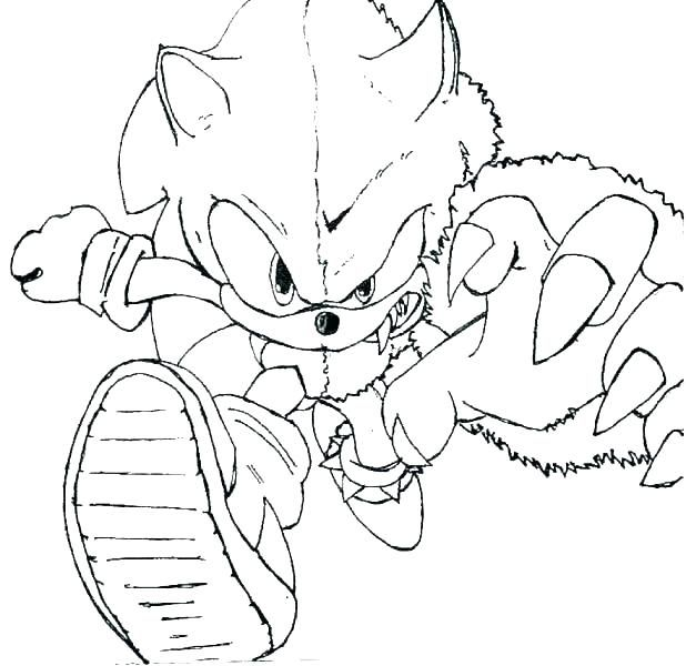 Easy Sonic Coloring Pages Ideas Printable Free Coloring Pictures