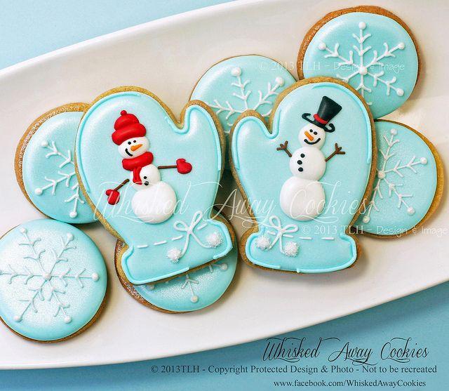 """Brrr! It's Time for Mittens!"" www.facebook.com/WhiskedAwayCookies"