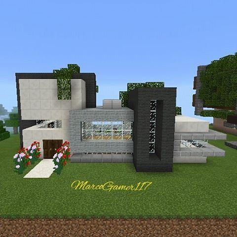 25 melhores ideias sobre casa minecraft moderna no for Casa moderna minecraft easy