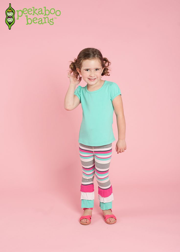 Girls Full Of Fun Leggings - Smooth waistband that will neither twist nor dig, flatlock stitching for less irritation, and a snug fit so your Bean can focus on play. | Peekaboo Beans - contact your Local Play Stylist or shop on-vine at www.peekaboobeans.com