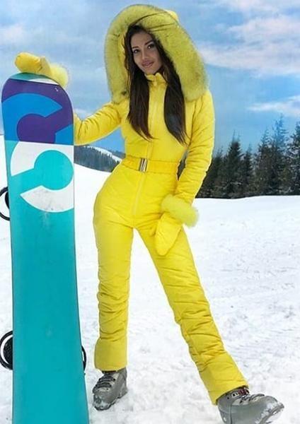 de3a05eed Onesies Silver & Gold Waisted Goose Down Ski Suit. Noble Purple Fur Ski Suit  Design By Nordic Famous Brand. Hot Snowboard Skisuit Snowsuit Outwear