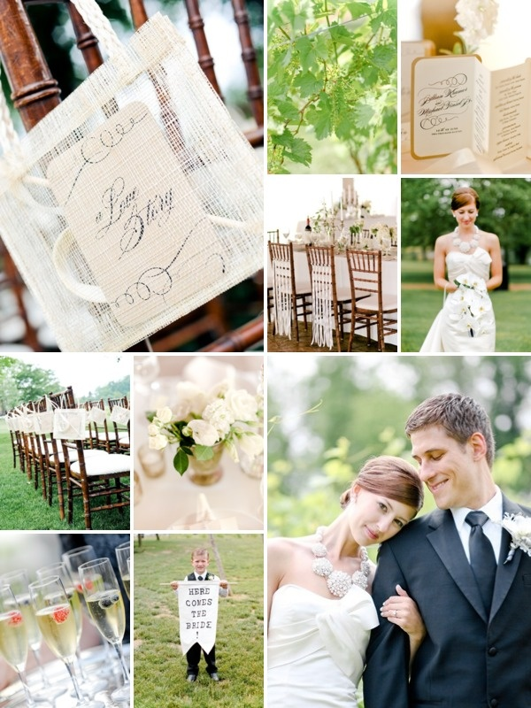 Winery Wedding - I love the quiet elegance of this wedding!