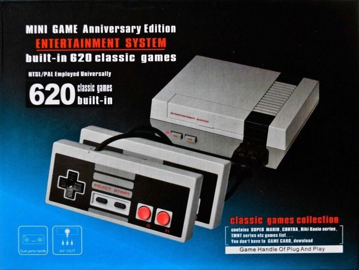 Mini Game Anniversary Edition Entertainment System model HST-838 is a plug-and-play Famiclone based on the NES Classic Edition. It appears to be made in China for the North American market, but no company name is apparent on the system or packaging. The case is an NES Classic Edition bootleg, possibly the same mold, but the power and reset button functions are swapped and the controller ports are swapped. The system includes two NES controller bootlegs with 2-meter cables and DB9…