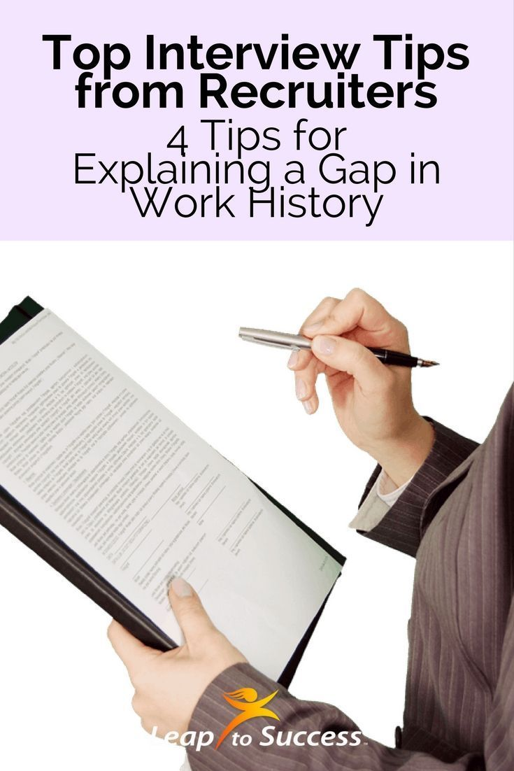 how to explain a gap in work history