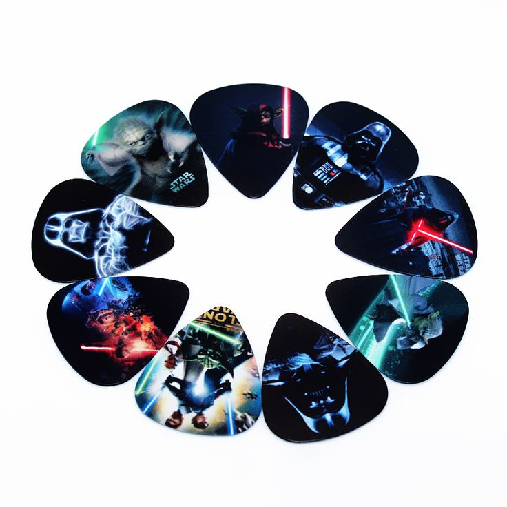 10pcs/Lot 0.71mm thicknessHot Star Wars guitar picks high-quality multi pattern guitar strap guitar parts #CLICK! #clothing, #shoes, #jewelry, #women, #men, #hats, #watches