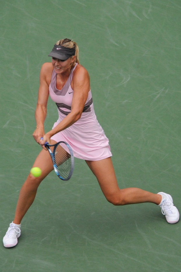 Maria Sharapova takes on Marion Bartoli in the quarterfinals at the 2012 US Open. - Andrew Ong/USTA