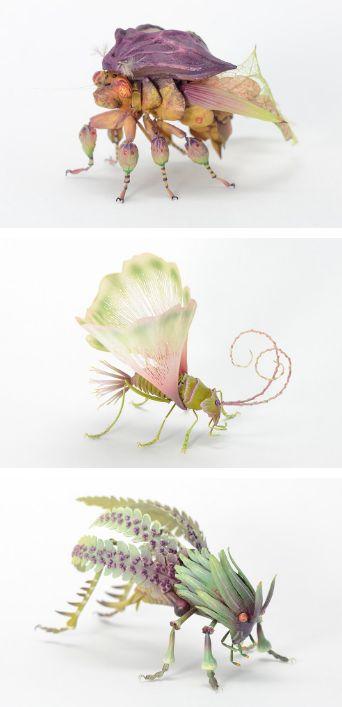 Yaprak Formlarıyla Yaratılmış Fantastik Böcekler  #fantastic #insect #sculpture #imaginary #fictional #hyperrealistic #art #flower #plant #leaf #handmade #resin #resinart #fantastik #hayalürünü #hayali #böcek #heykel #hiperrealist #sanat #çicek #bitki #yaprak