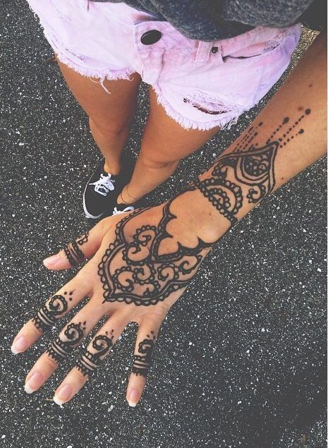 Black Henna Tattoo Tumblr: Hair And Makeup