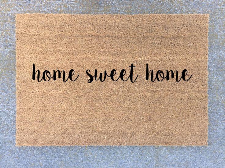 home sweet home welcome mat door mat gift new home decor