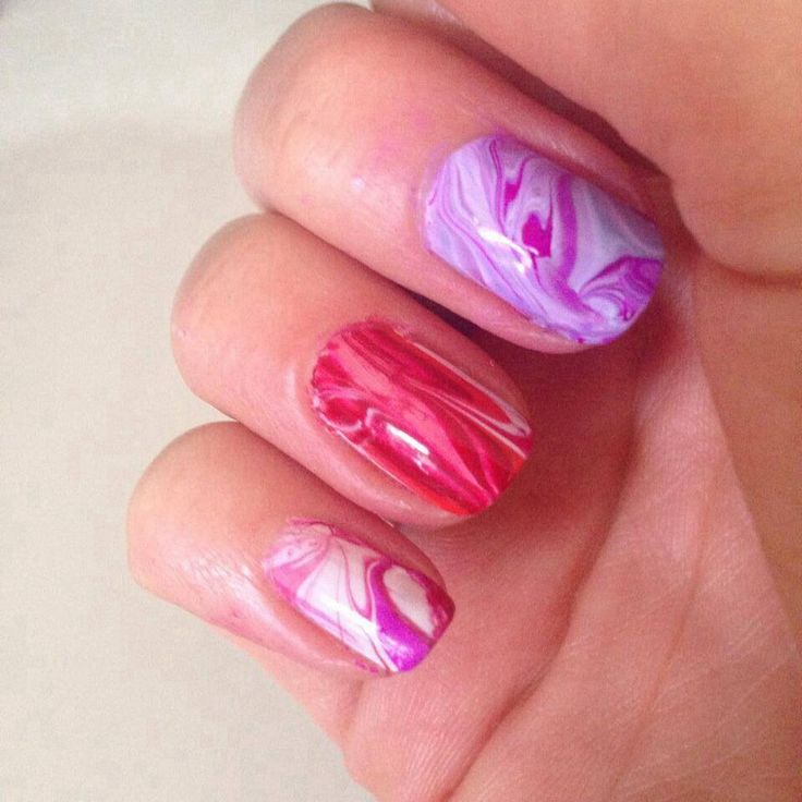 Some water marbeling fun using jessica polishes.