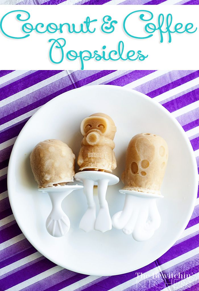 Coconut Coffee Popsicles #havajava - The Bewitchin' Kitchen