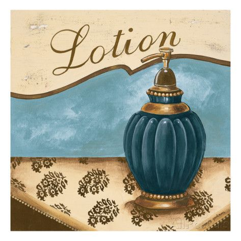 Bath Accessories IV - Blue Lotion Premium Giclee Print
