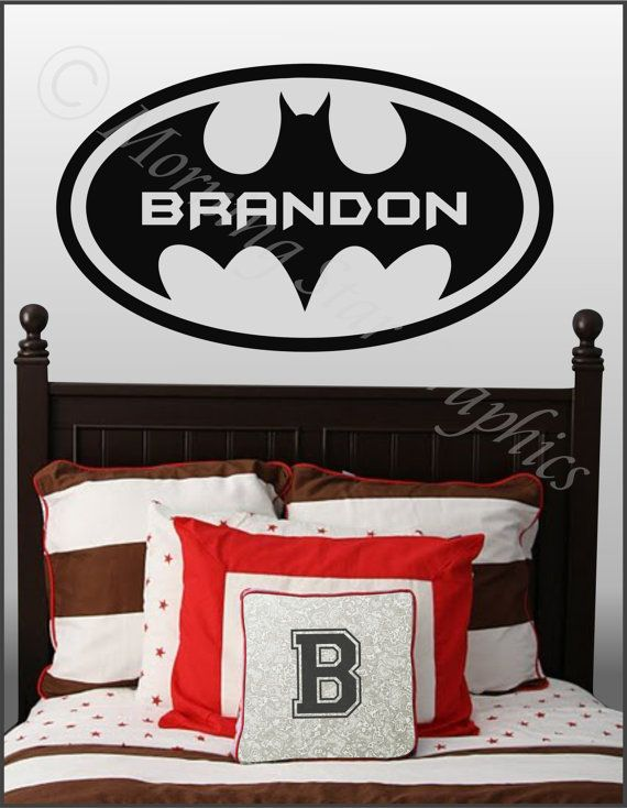 Kids Room BATMAN Personalized with Name Large by DesignSPLASH, $27.95    he would luvvv thisLarge Vinyls, Vinyls Wall, Kids Room, Room Ideas, Art Decals, Kid Rooms, Vinyl Wall Art, Room Batman, Boys Room