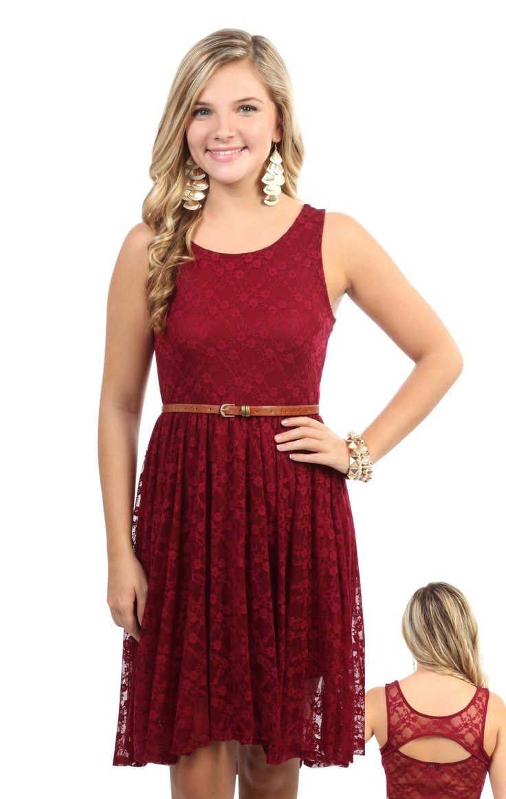 all over #lace tank strap belted high low #dress  $29.20