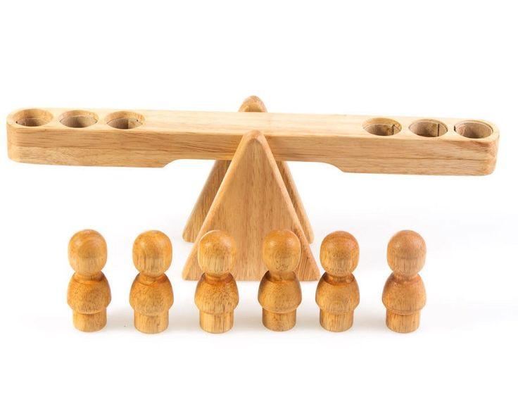 Natural Wooden Balancing Seesaw Toys Australia Wooden