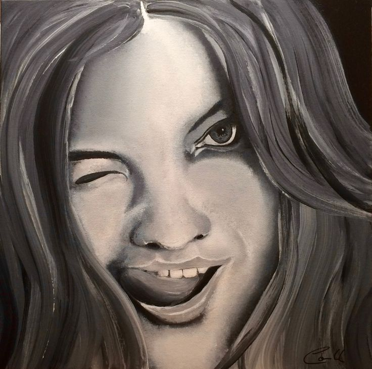 "Artist: Louich! Acrylic on canvas 2015 ""Petite Fille"" 16"" x 16"" louichart@gmail.com  #louichart #art"