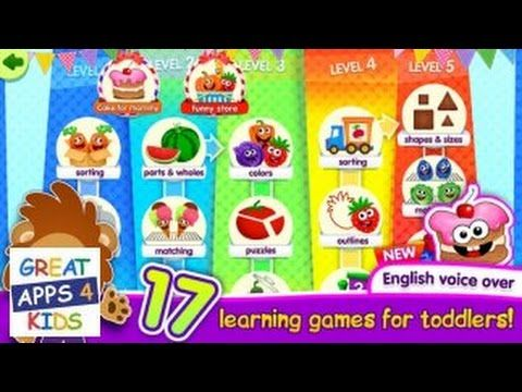 Funny Food | Educational Game App for Toddlers and Kids