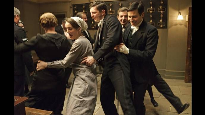 Go behind the scenes of the Downton Abbey Season 6 premiere -- See candid images of Downton Abbey's stars on set in the Episode 1 slideshow and watch Downton Abbey, Jan. 3-March 6, 2016, on MASTERPIECE on PBS. #DowntonPBS