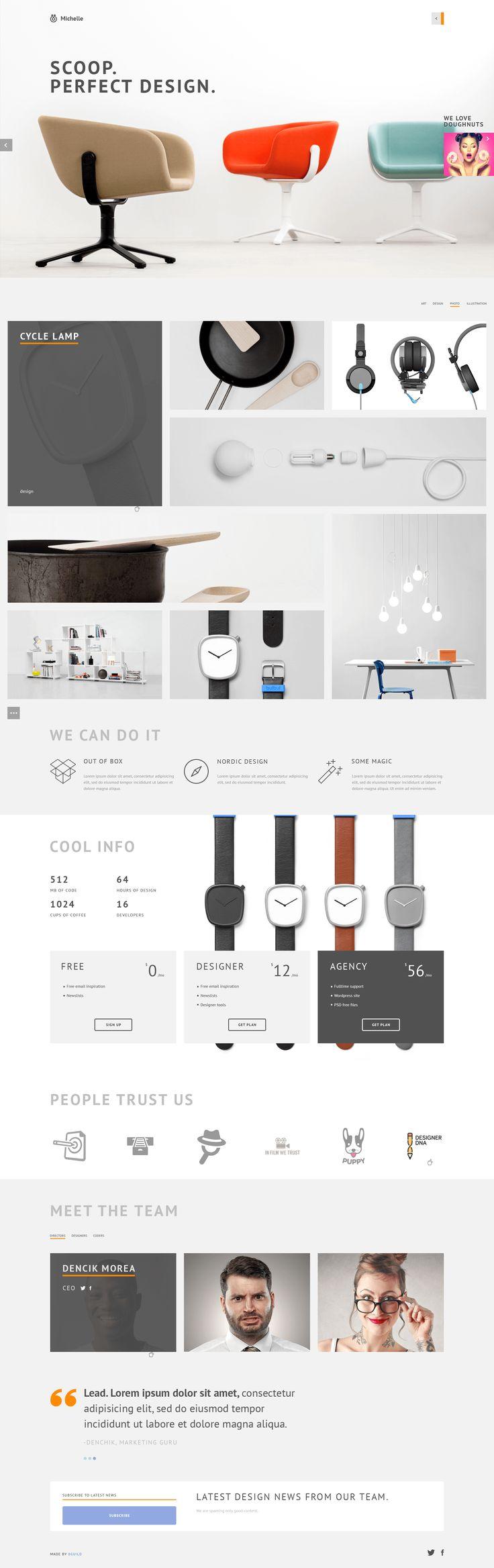 Michelle - Minimal Portfolio PSD Template | ThemeForest