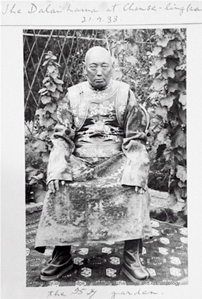 """Tibetan Buddhism  13th Dalai Lama near end of his life. Died in 1933 at the age of 58. Was called the Great 13th, one of the two Dalai Lamas referred to as """"The Great"""". The other was thee Great 5th."""