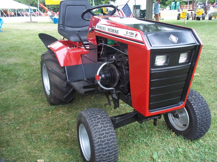Red Amp Black Wheel Horse Lawn Mower Tractor Wheel Horse
