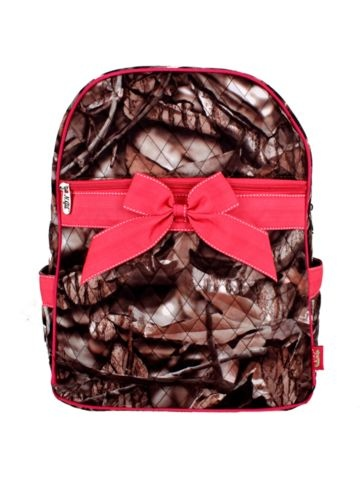 WANT THIS!!!!!!!!!! Discount BNB Natural Camo™ Quilted Large Backpack with Hot Pink Ribbon #SNQ2828-HPINK - Wholesale Accessory Market