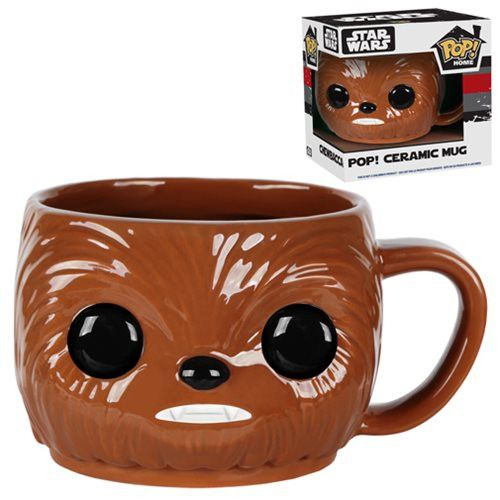 Enjoy this cute Chewbacca Pop Home Ceramic Mug that comes with just as cute packaging. Makes a great gift for Wookiee Star Wars fans. - Ships only within the United States - Ships separately from the
