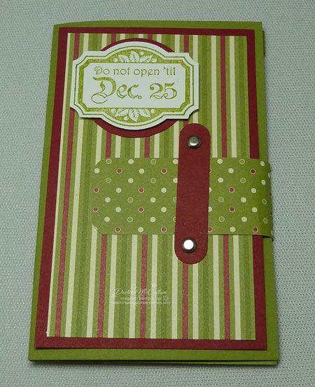 Stampin Up Canada Jolly Holiday Gift Card Holder