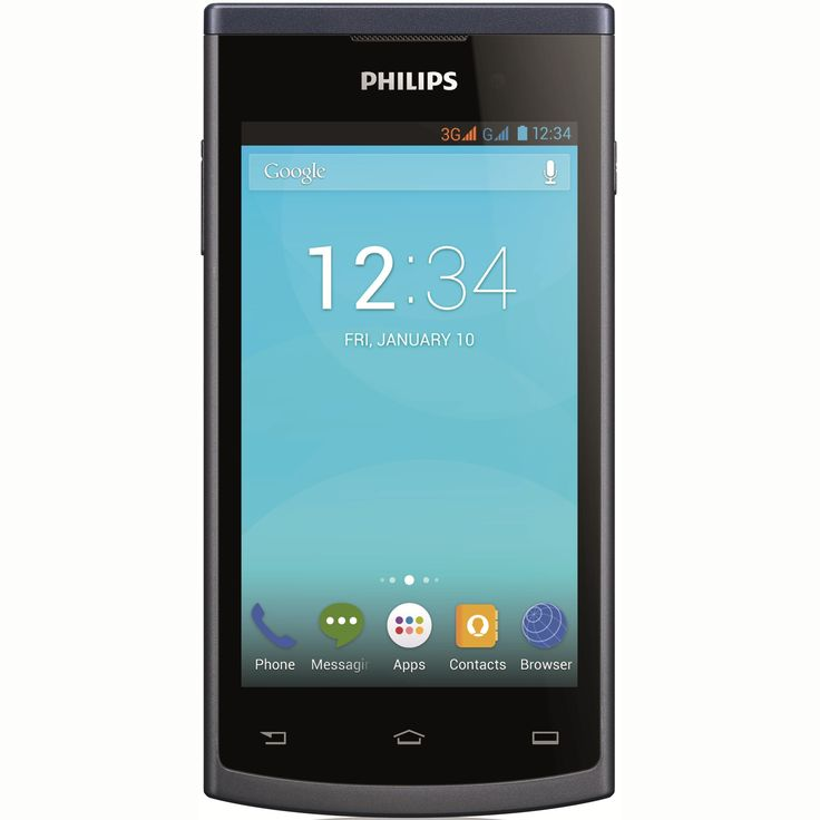 Philips S308 mobiltelefon, Kártyafüggetlen, Dual SIM, Szürke