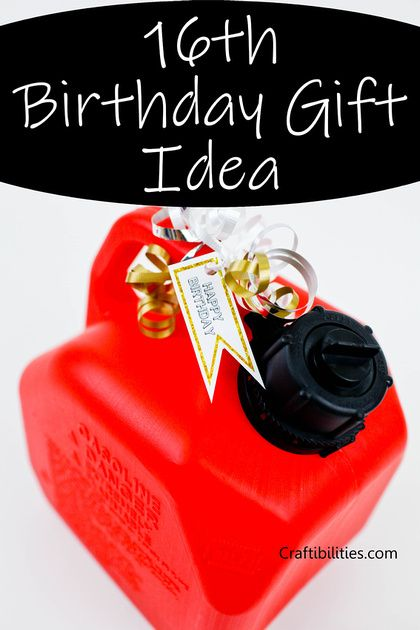 16th Birthday Gift Idea Creative Way To Give Money Gas