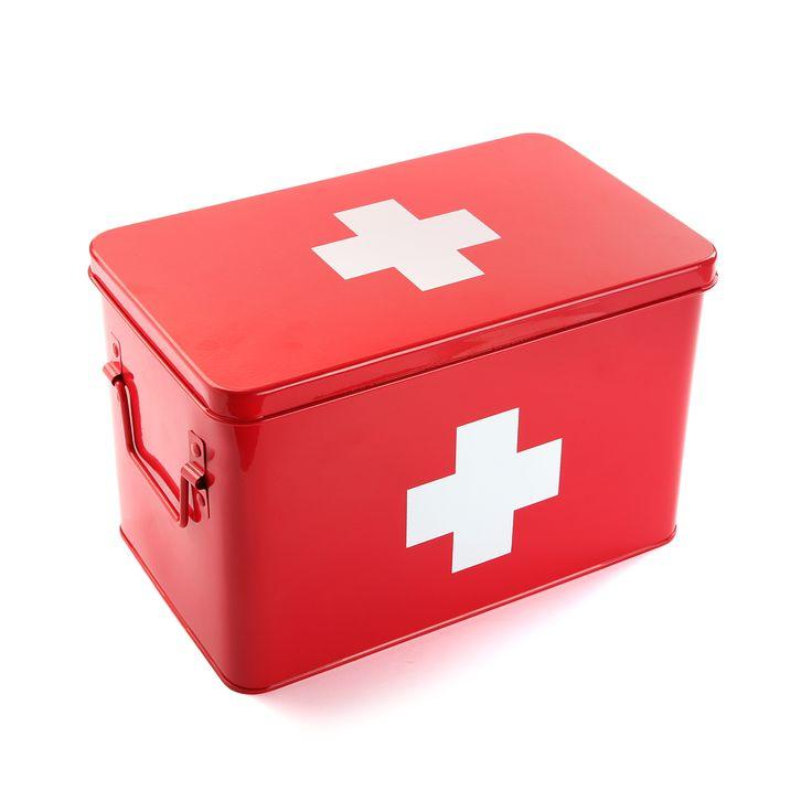 Caja organizadora de medicamentos de metal #caja #metal #casa #versa | Pills planner metal box #box #metal #home #versa