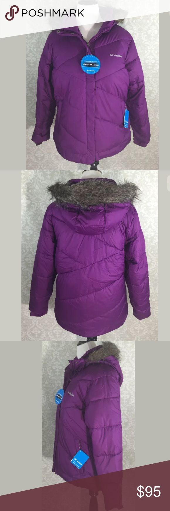 NEW Columbia Coat Plus Size 1X Purple Ski Puffer Columbia Coat Size: 1X Color: purple Condition: New with tags (originally $160) Measurements: Bust= 26, Length= 27.5, Sleeve= 24.5 Columbia Jackets & Coats Puffers