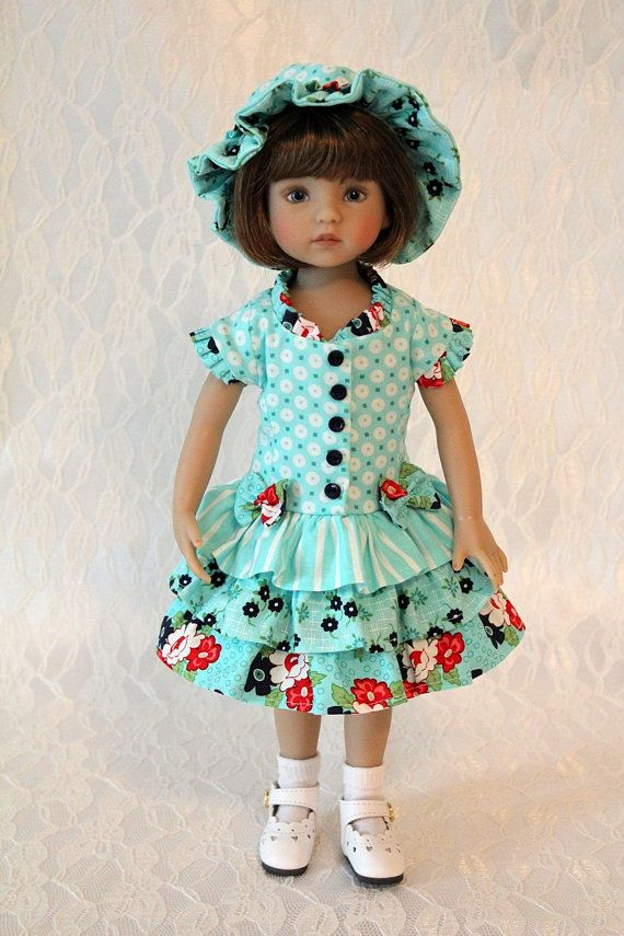 "Dress and Hat for 13"" Dianna Effner Little Darling:"