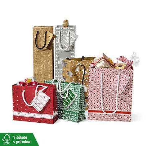Darčekové tašky, 6 ks