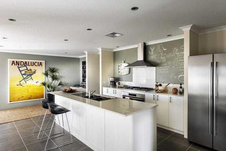 Grey Tiles White Kitchen Pinterest