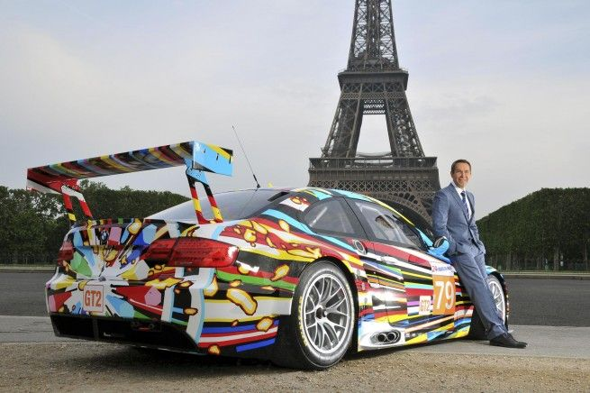 Making room in the garage ... Jeff Koons 2010 BMW Art Car