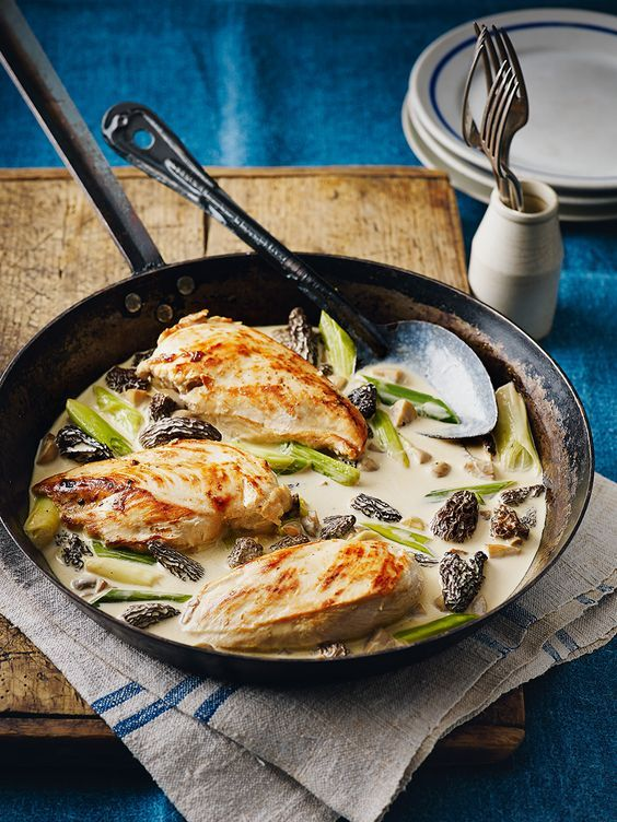 This classic chicken recipe from famous French chef Raymond Blanc, made with morel mushrooms and wine, never fails to impress.