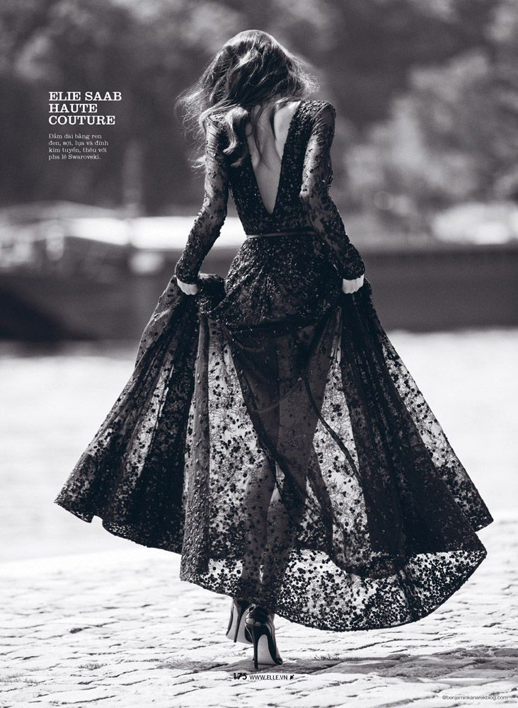 The Newest Elle Vietnam Issue Stars Daniela De Jesus in Beautiful Gowns #party #dresses trendhunter.com