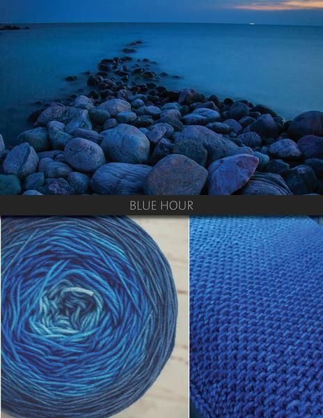 Blue hour is the colour of twilight, of dusk, of evenings by the lake or in the city. Transitioning from a light blue to a deep cobalt and into a rich navy, if you love blue this is your colour.  The Blue Brick Ombré series is a collection of long-run gradient yarns, hand dyed to match photography, and objects from the natural world. This skein will ship with the photograph used as the main product image. Ombré yarns may be ordered in any of the bases listed below. Please note that these…