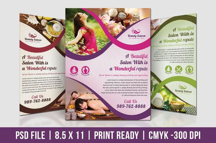 20+ Great Spa and Beauty Salon Banner (PSDs) prewed Pinterest - hair salon flyer template